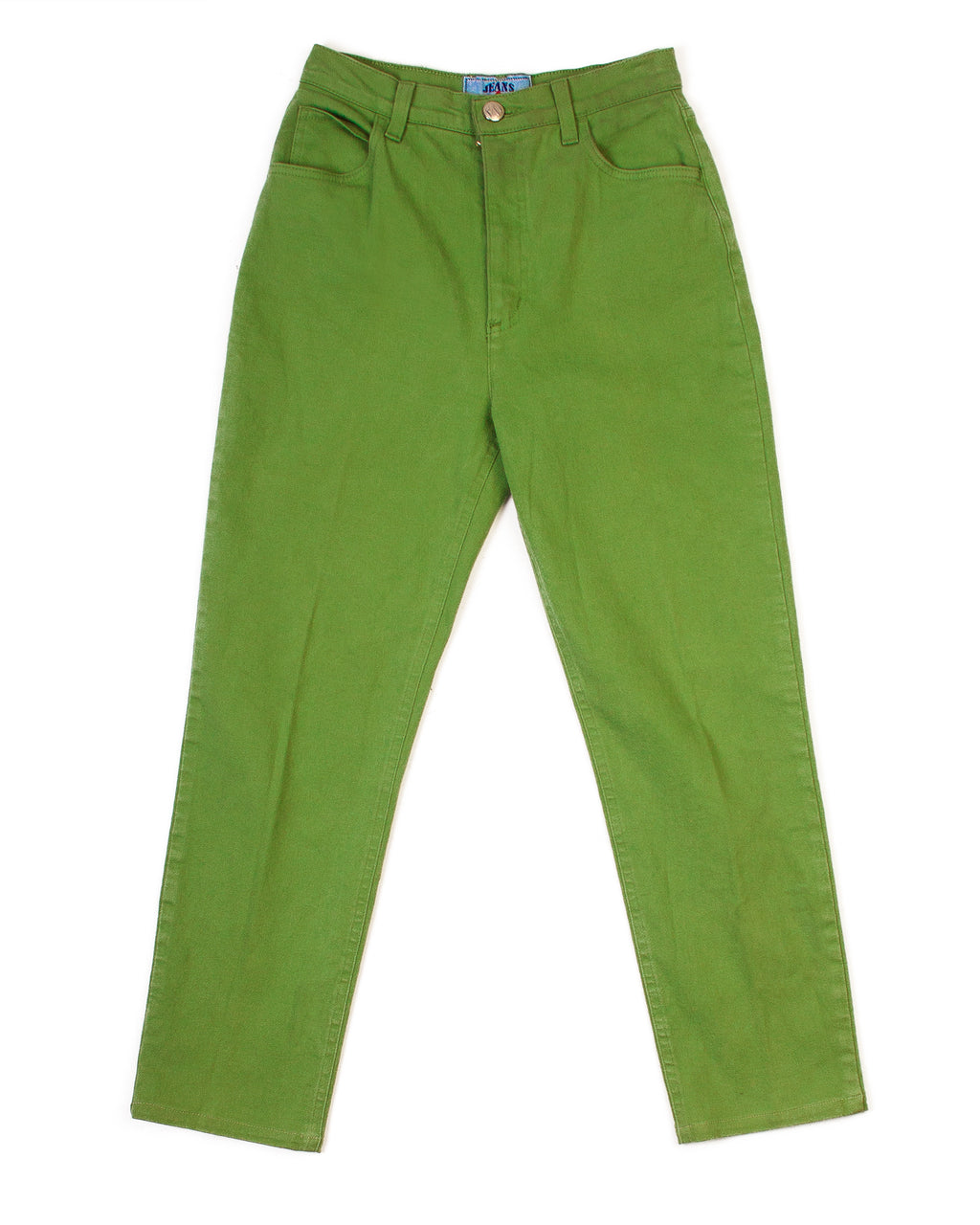PEA GREEN STRAIGHT LEG JEANS