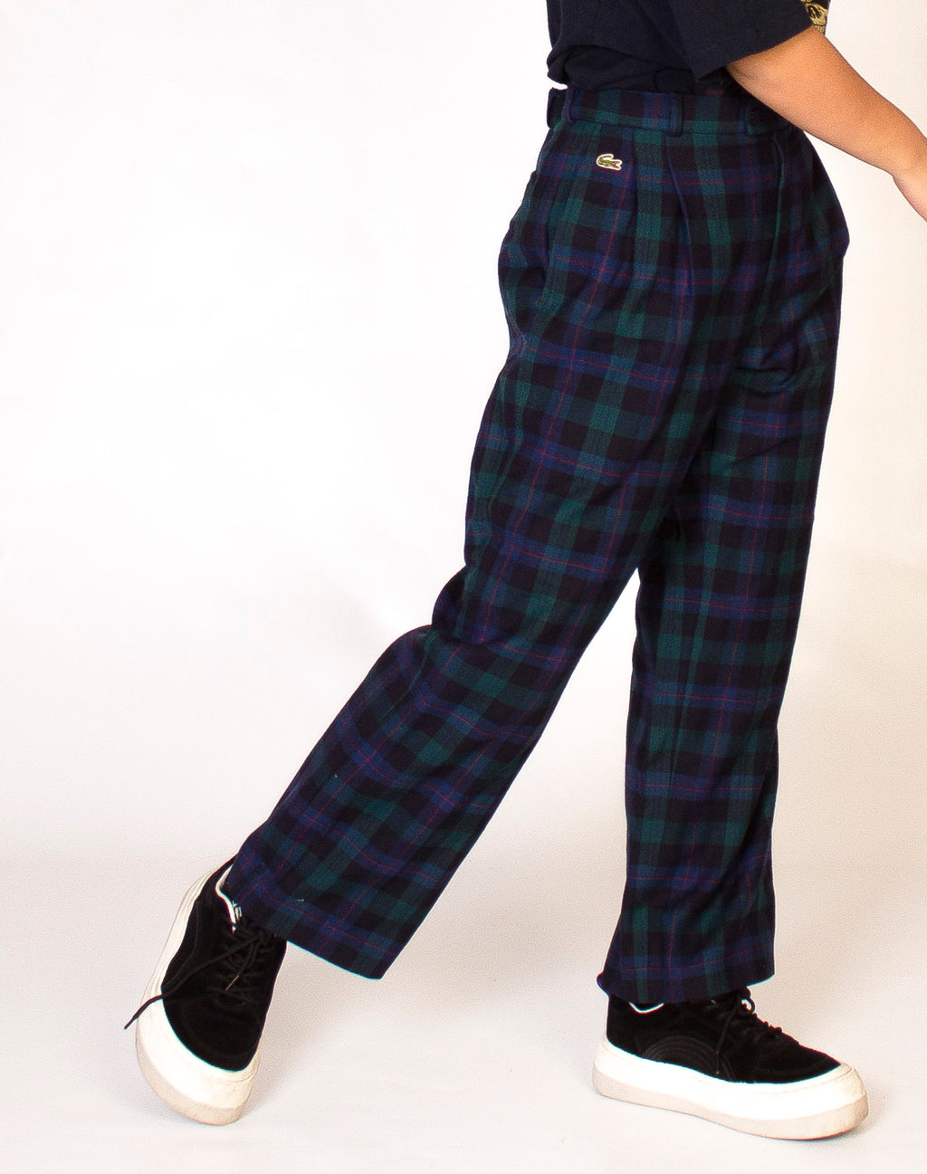 LACOSTE PLAID TROUSERS