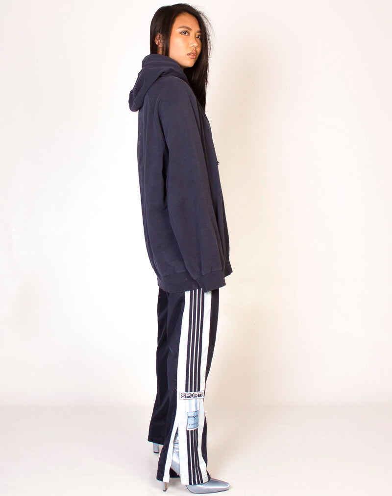 NAVY ADIDAS POPPER PANTS