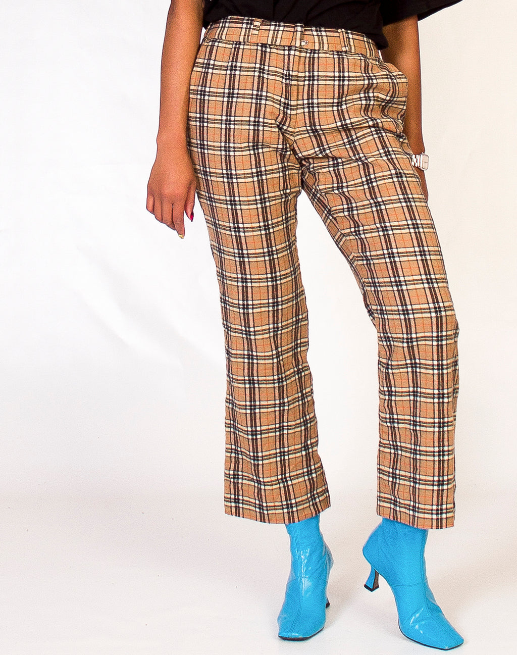 NOVA CHECK WOOL TROUSERS