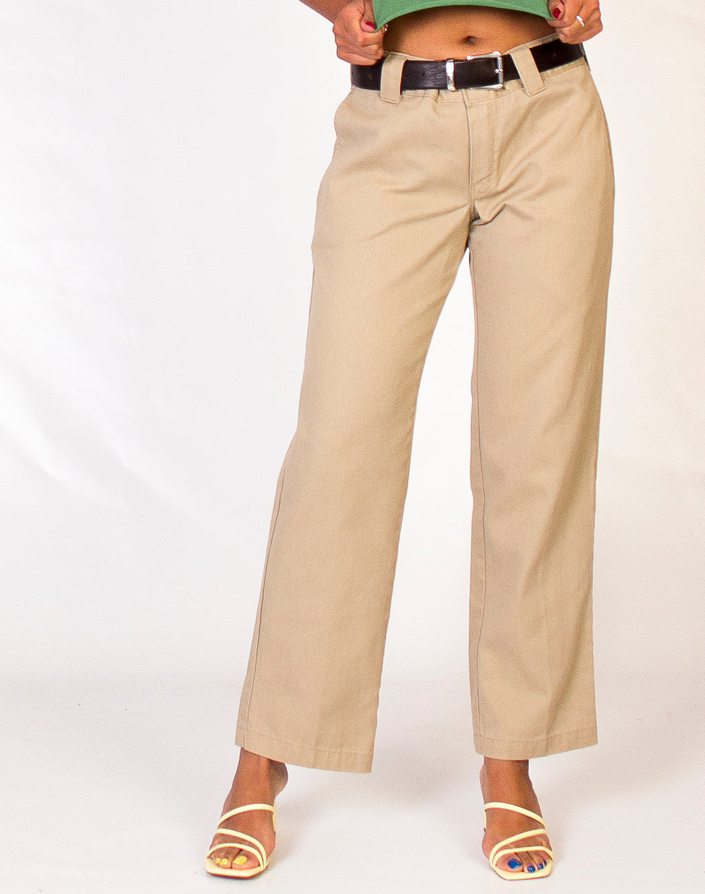 DICKIES BEIGE STRAIGHT LEG TROUSERS