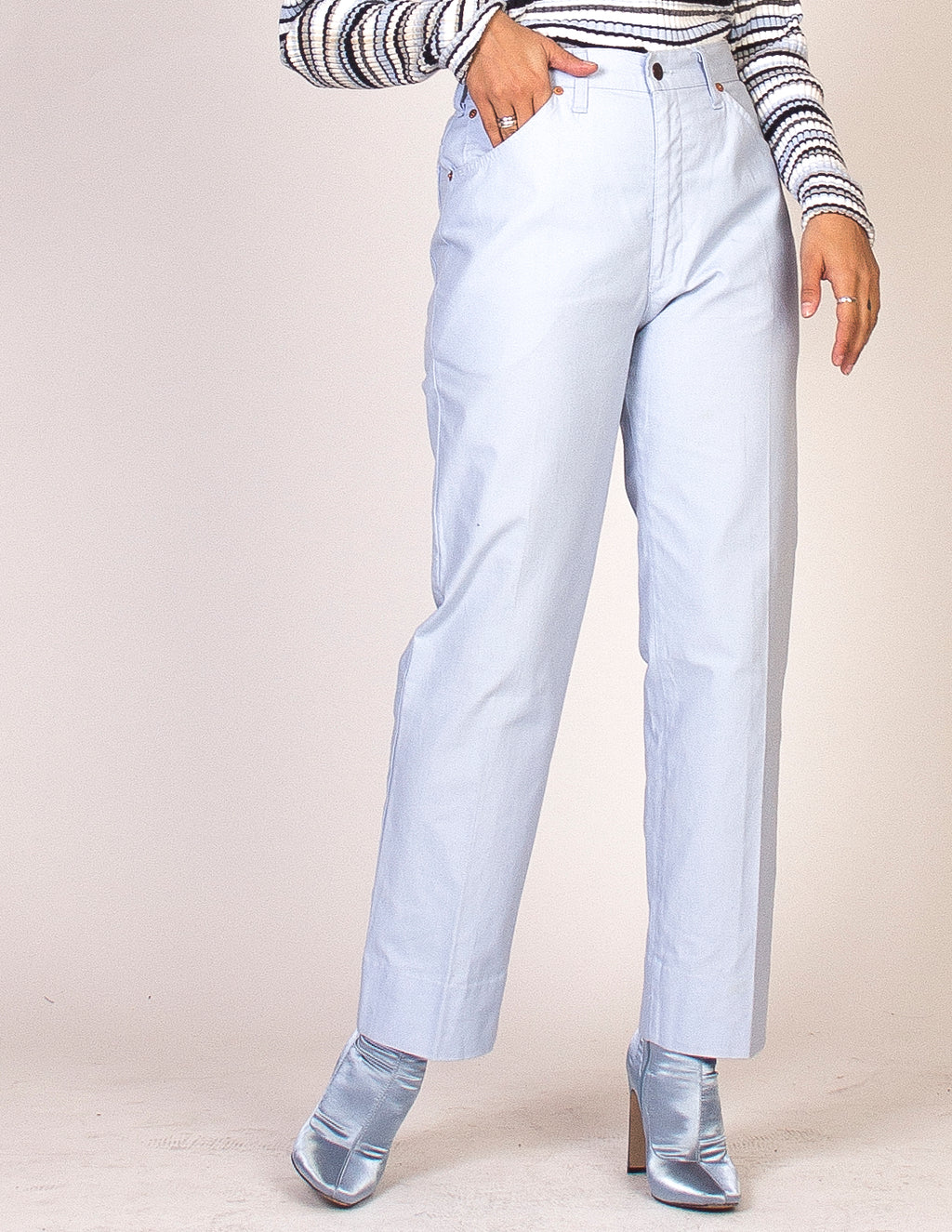 LEVI'S PALE BLUE HIGH WAIST TROUSERS