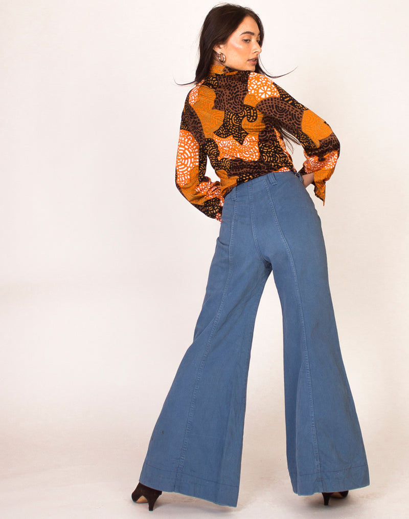 70s LIGHT WASH DENIM FLARES