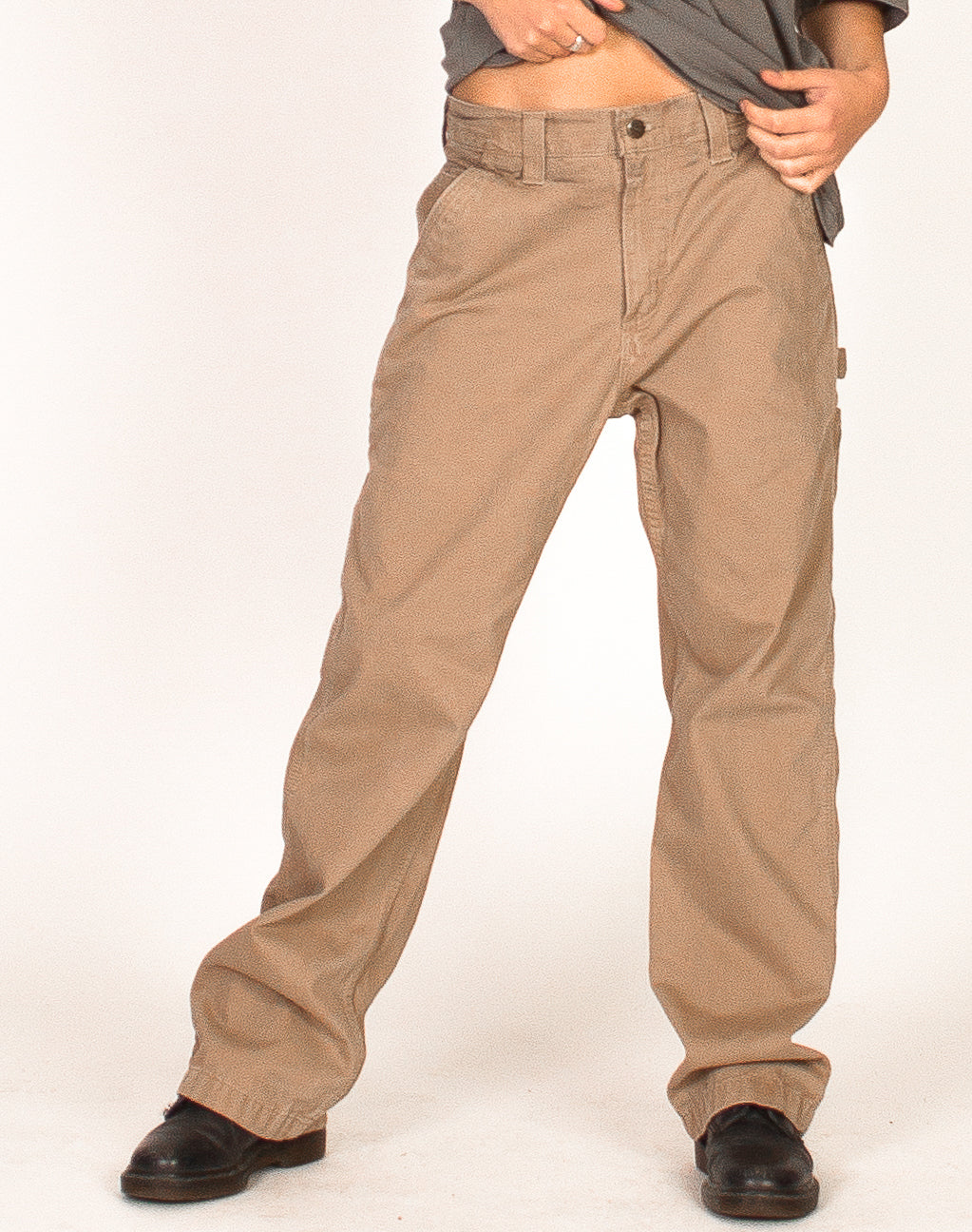 CARHARTT BEIGE CARPENTER TROUSERS