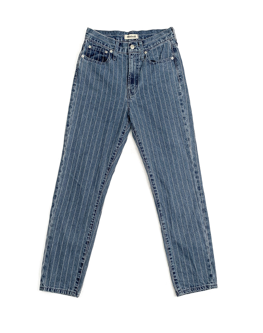 BLUE STRIPE DENIM JEANS