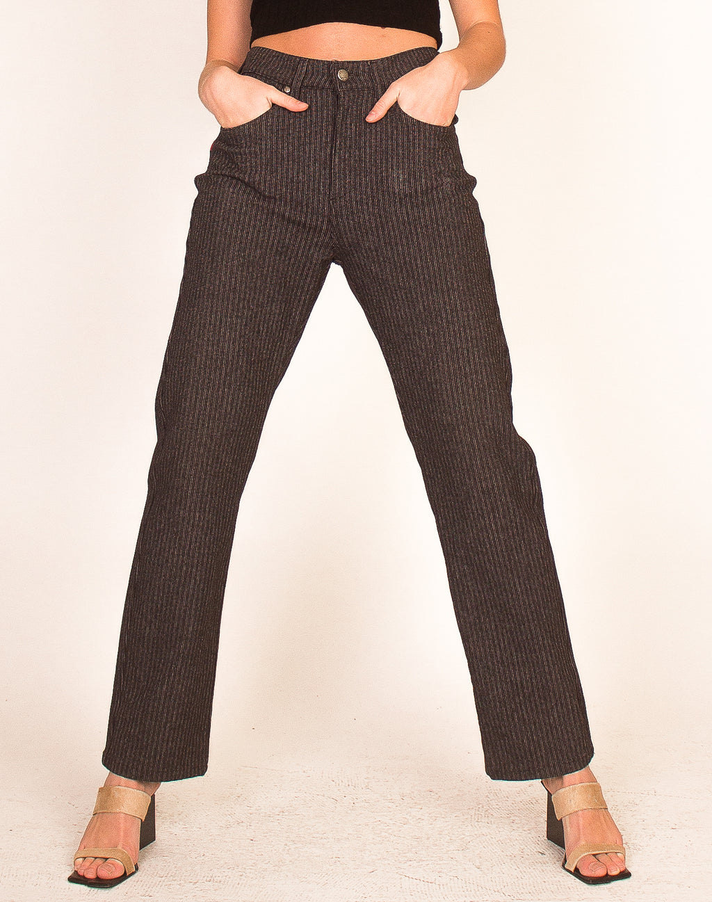JOOP PINSTRIPE HIGH WAIST TROUSERS