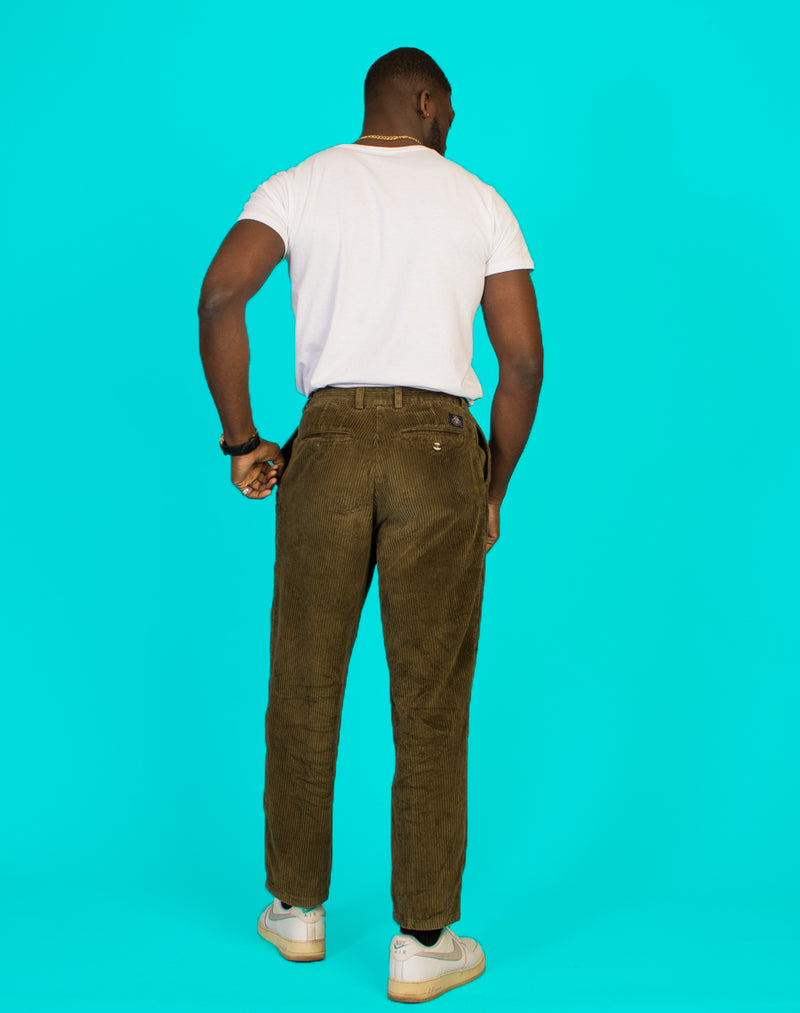 GREEN CORD TROUSERS