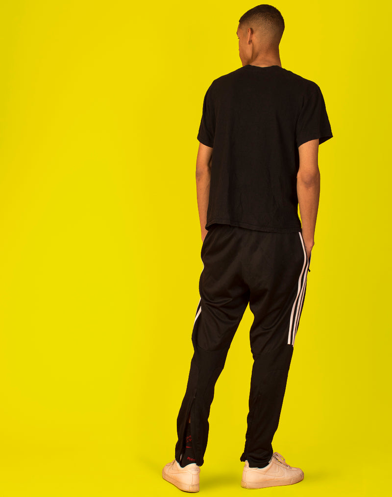 ADIDAS BLACK TAPERED JOGGERS