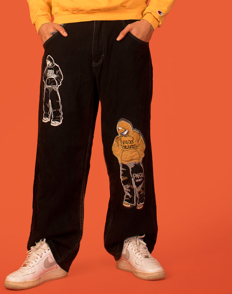 PACO GRAPHIC SKATER JEANS