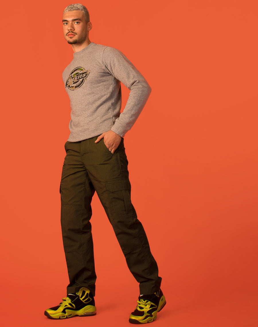 DICKIES GREEN UTILITY TROUSERS