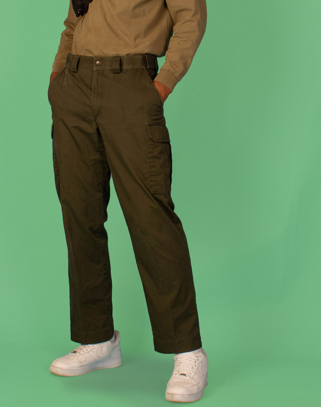 GREEN UTILITY TROUSERS