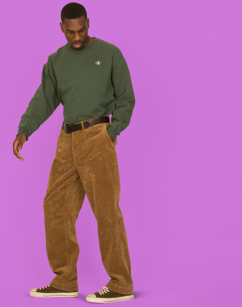 RALPH LAUREN BROWN CORDUROY TROUSERS