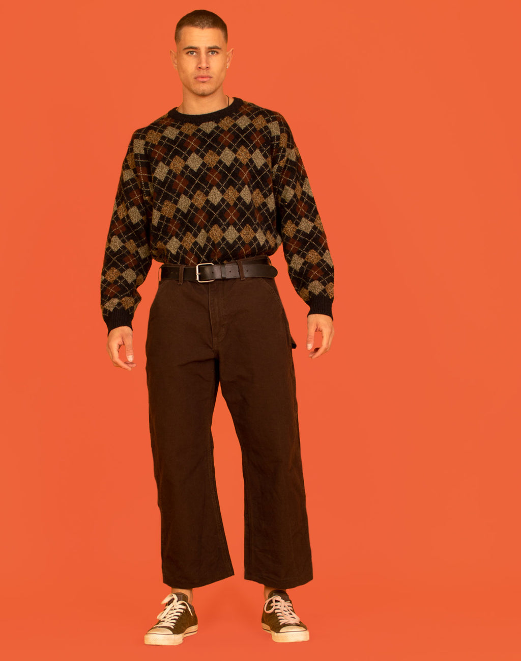CARHARTT DARK BROWN TROUSERS
