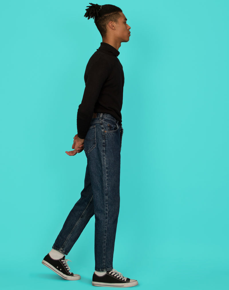 LEE BLUE TAPERED JEANS