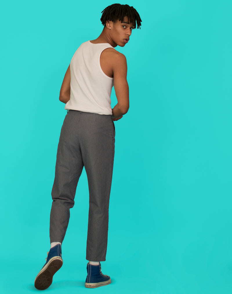 BLUE CHECK TROUSERS