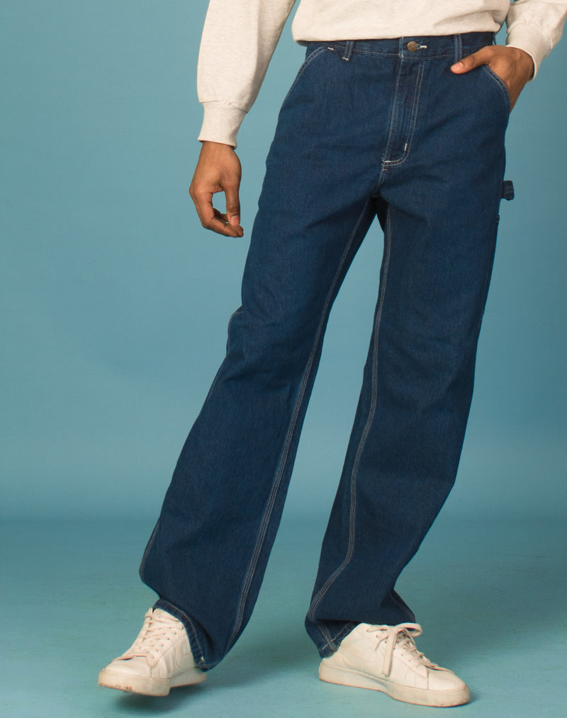 CARHARTT DENIM STRAIGHT LEG JEANS