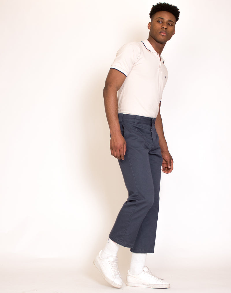 DICKIES GREY STRAIGHT LEG TROUSERS
