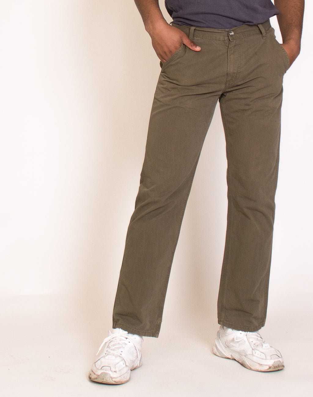 CARHARTT GREEN CARGO TROUSERS