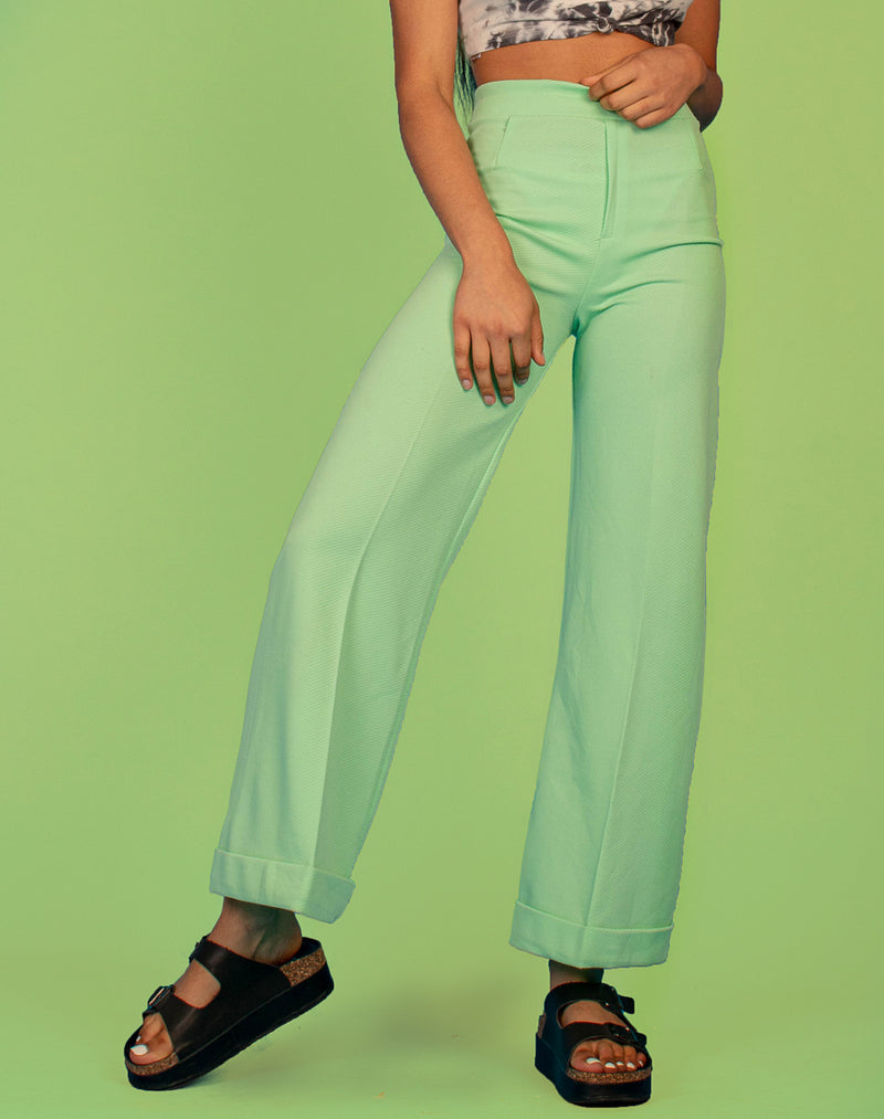 MINT WIDE LEG TROUSERS
