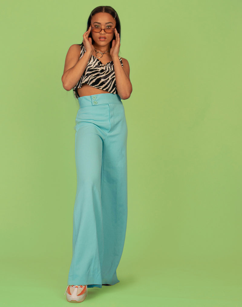 BABY BLUE WIDE LEG TROUSERS