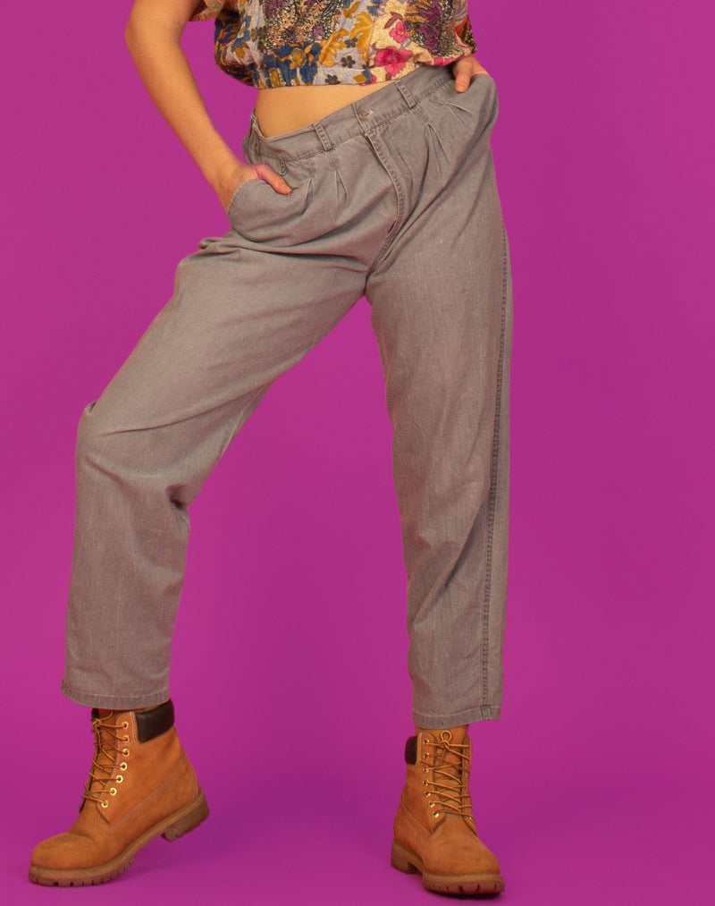 PLEATED GREY TROUSERS