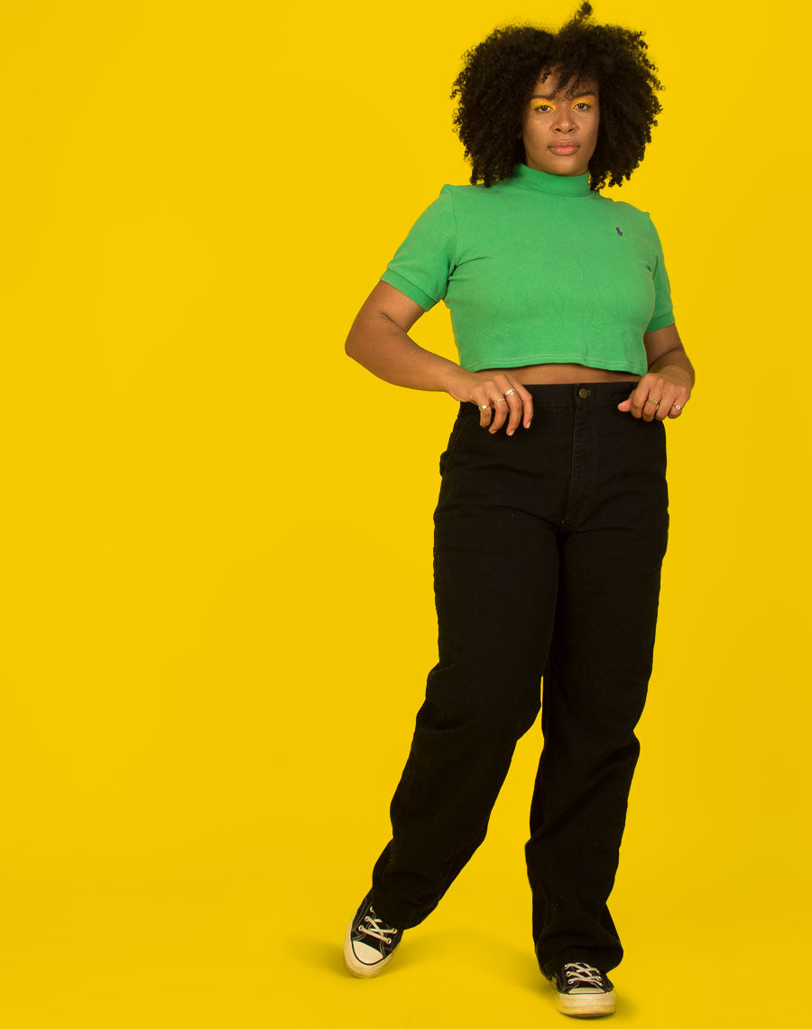 CARHARTT BLACK MOM JEANS