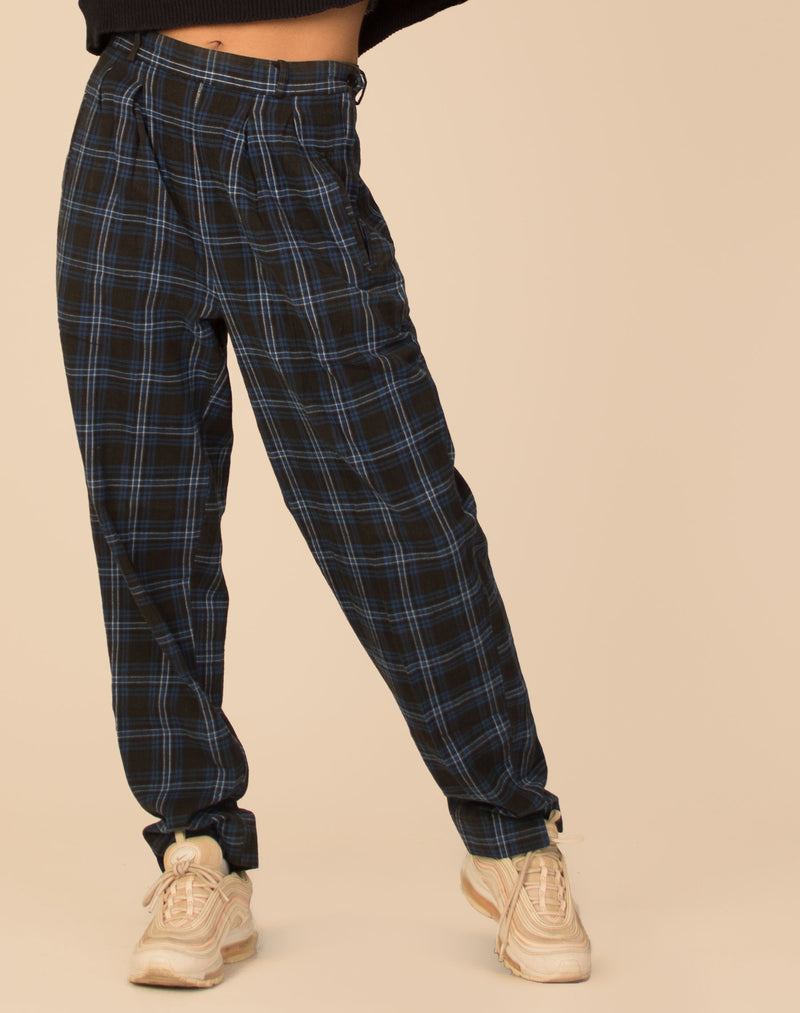 WHITE CHECKERED TROUSERS