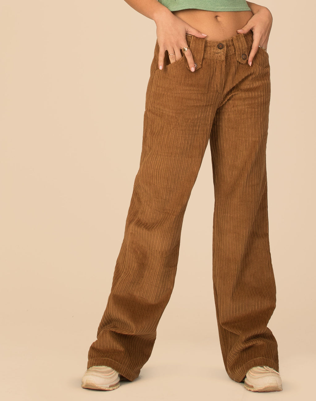 BROWN CORDUROY FLARES