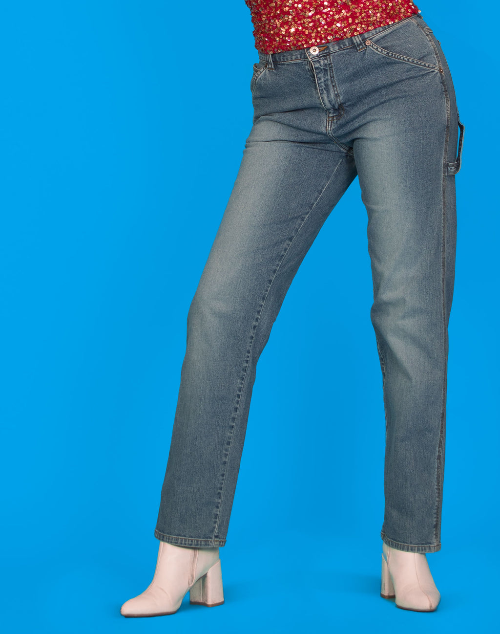LEE LIGHT BLUE SKATER JEANS