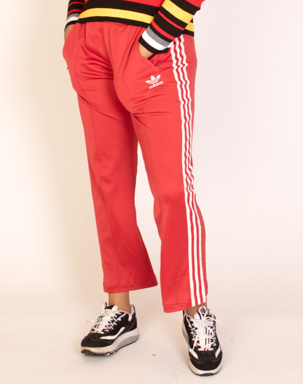 ADIDAS RED JOGGERS