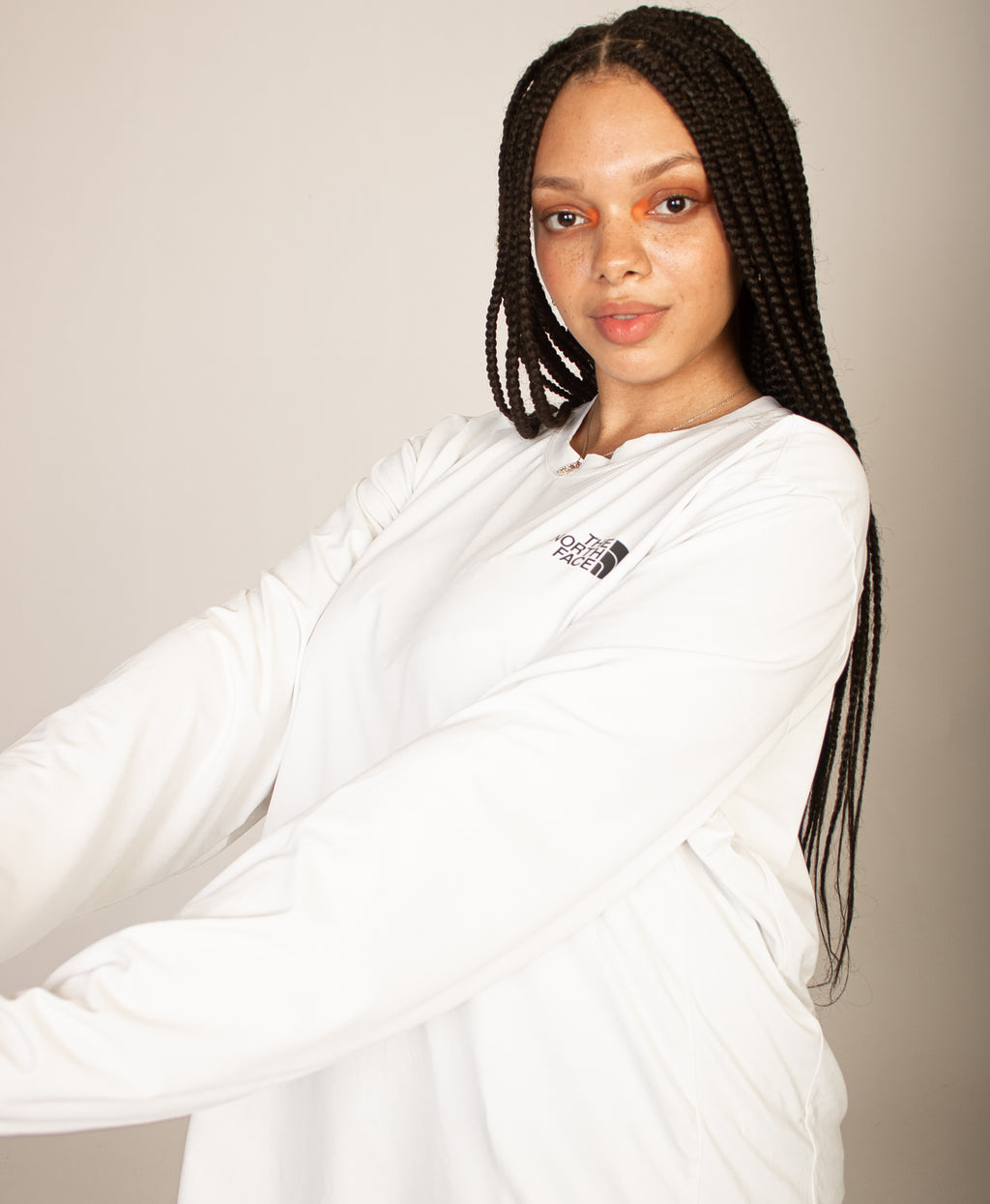 NORTH FACE OVERSIZED WHITE TEE