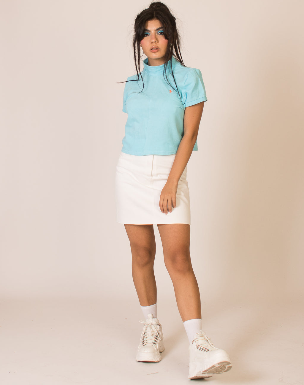 RALPH LAUREN BUBBLEGUM BLUE CINDY TEE