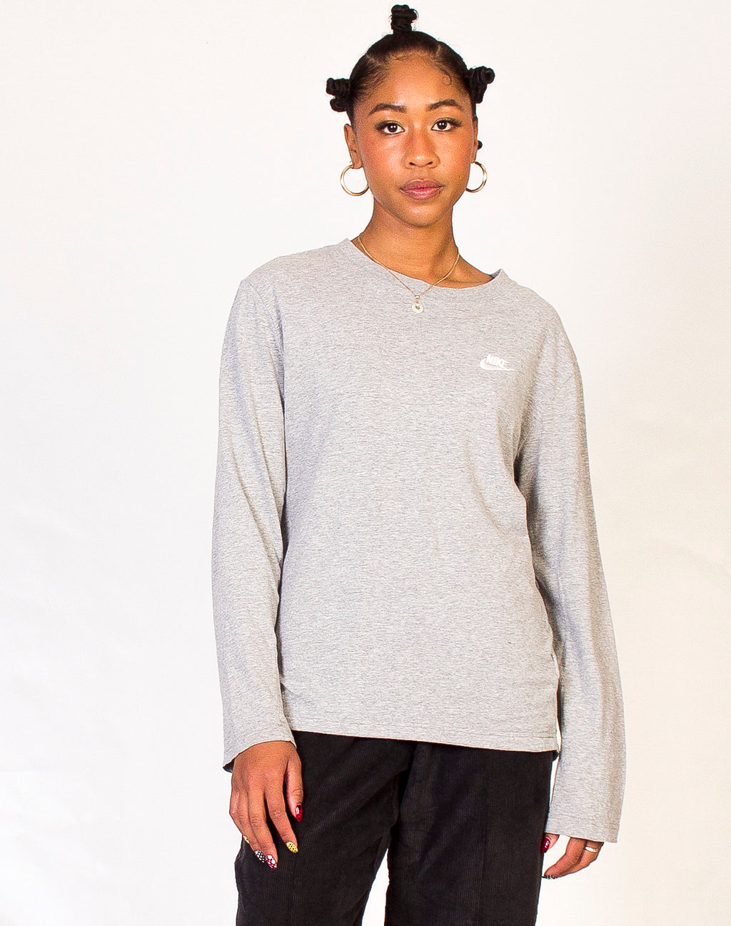 NIKE LONG SLEEVE GREY TEE