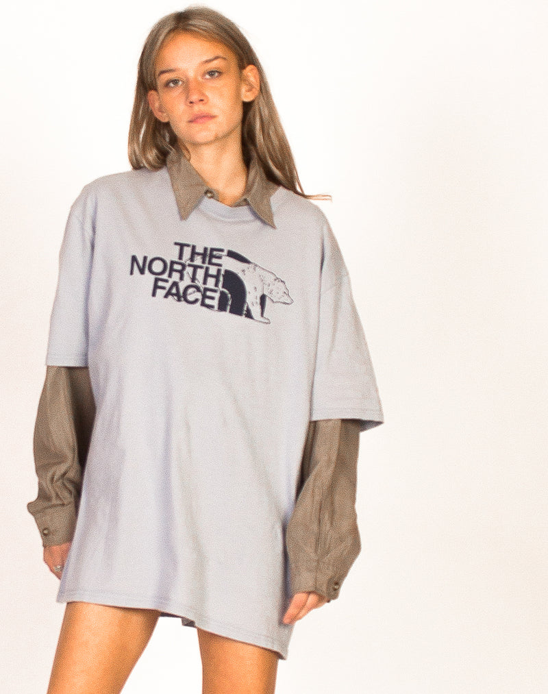 NORTH FACE LIGHT BLUE POLAR TEE