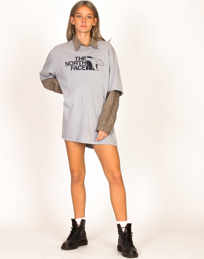 GREY HIGH NECK CROPPED JUMPER