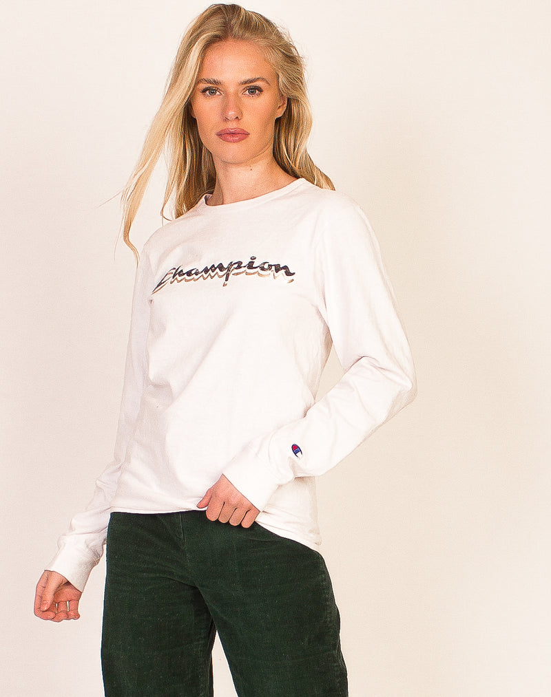 CHAMPION WHITE SPORTS TOP