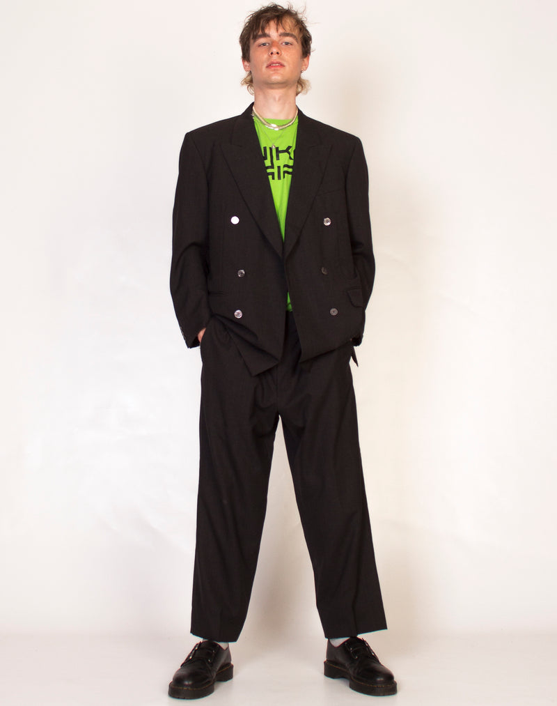 PIERRE CARDIN CHARCOAL RELAXED SUIT