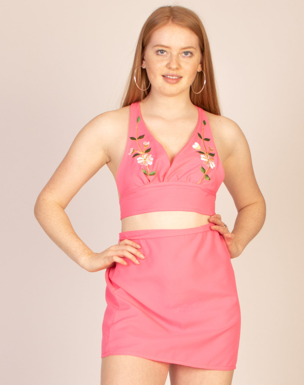 BRIGHT PINK PRINTED CHIFFON CO-ORD