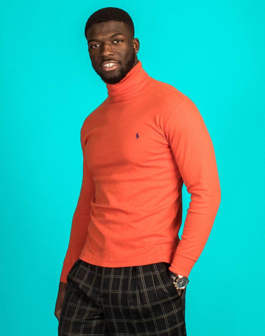 RALPH LAUREN ORANGE TURTLENECK
