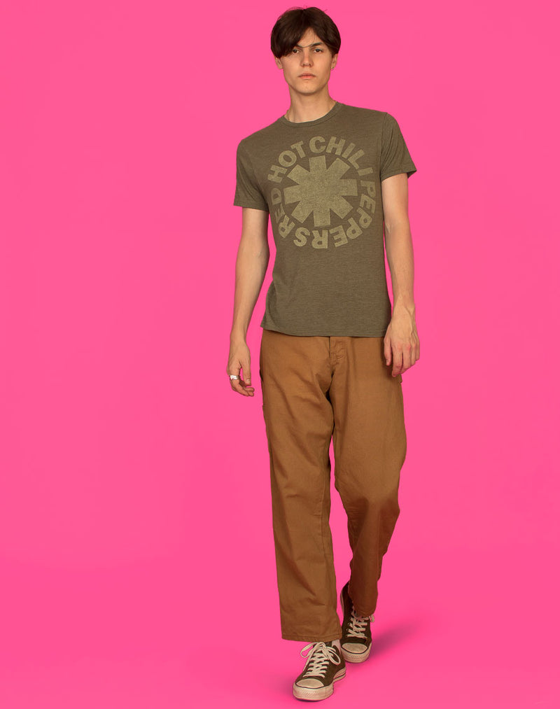 RED HOT CHILLI PEPPERS KHAKI T-SHIRT
