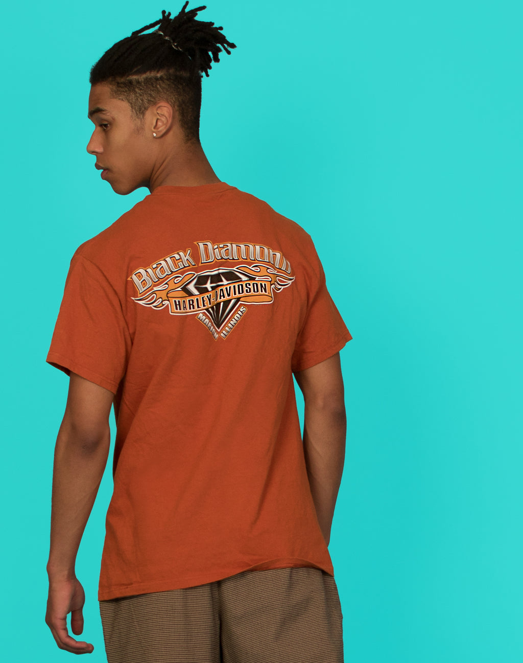 HARLEY DAVIDSON BURNT ORANGE T-SHIRT