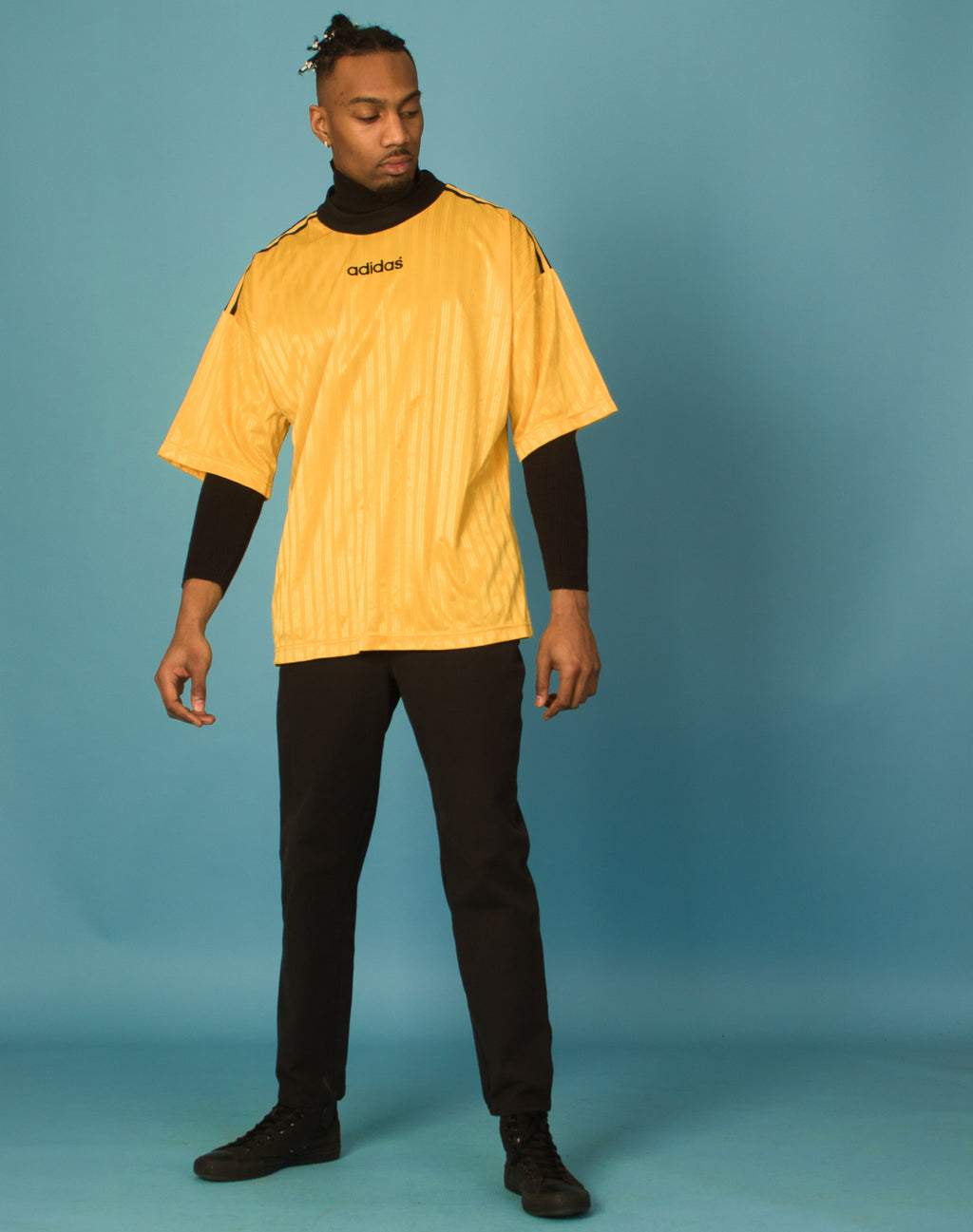 ADIDAS YELLOW SPORTS T-SHIRT
