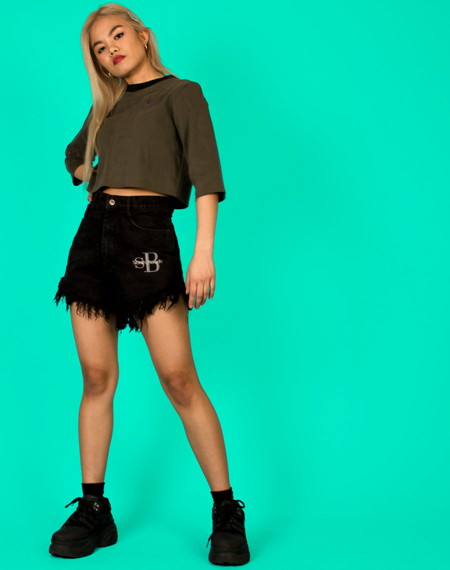RALPH KHAKI CROPPED LUCY TEE