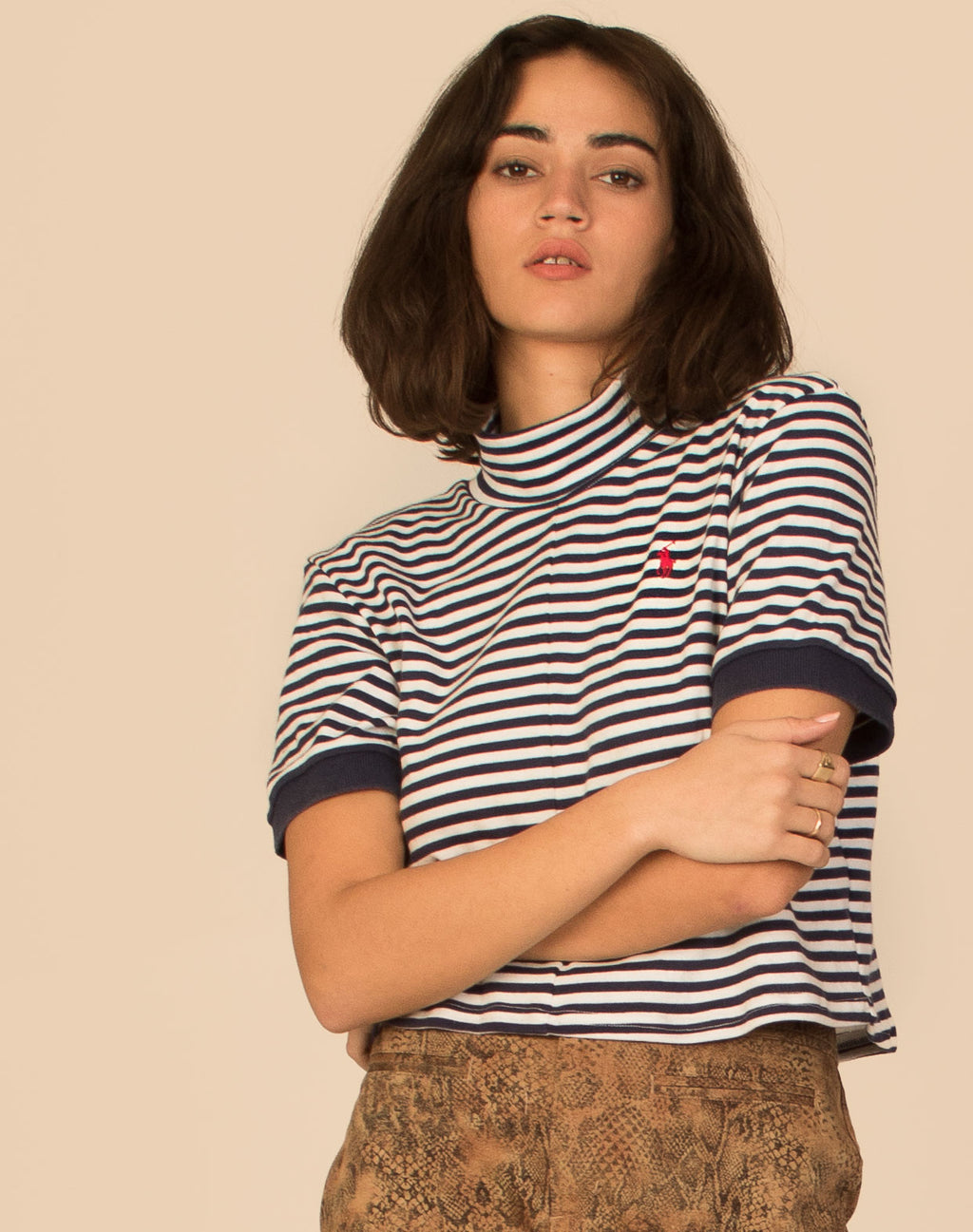 RALPH LAUREN CROPPED CINDY TEE