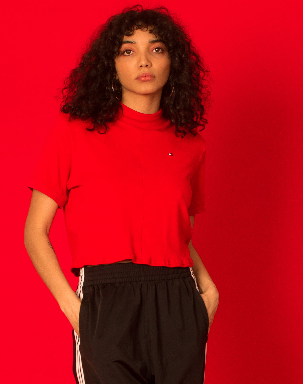 TOMMY HILFIGER RED CINDY TEE