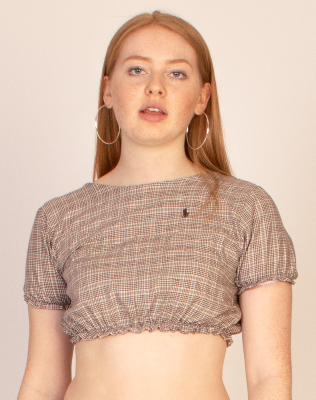 RALPH BROWN GINGHAM HANNAH TOP
