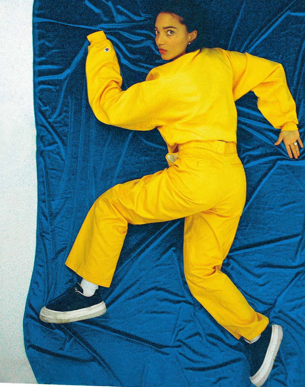 DICKIES YELLOW STRAIGHT LEG TROUSERS
