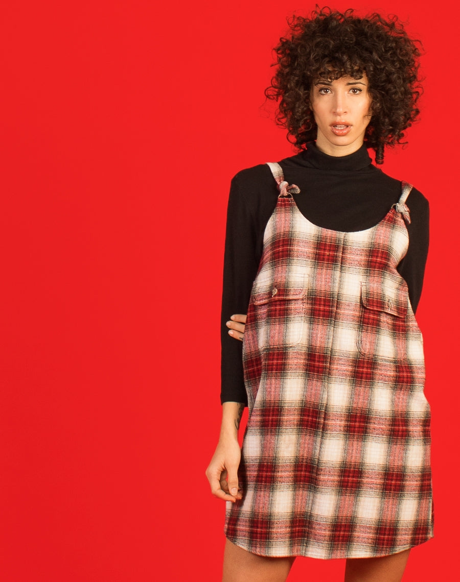 RED FLANNEL MAGGIE DRESS