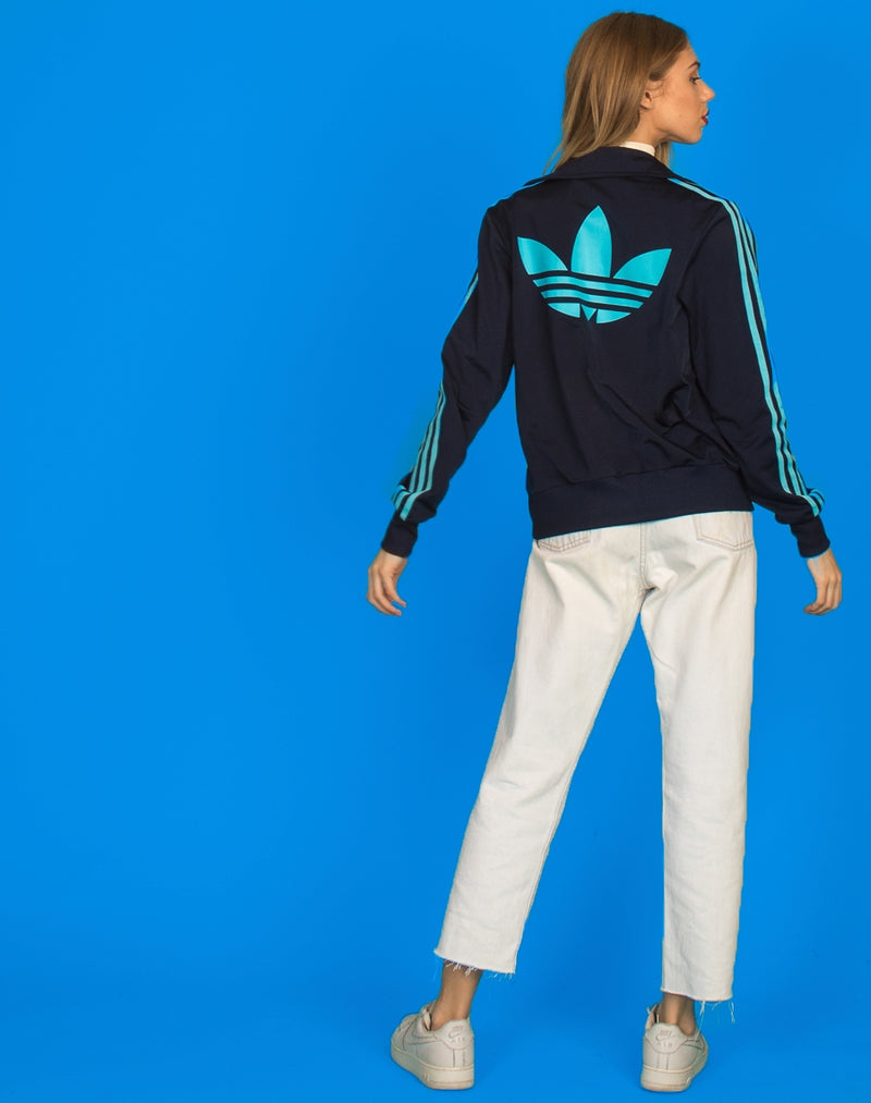 ADIDAS BLUE TRACKIE TOP