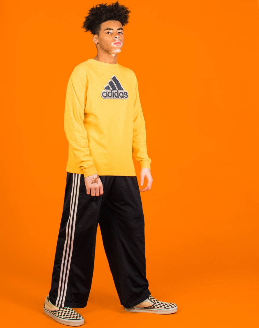 1fa3a900f4563 ADIDAS YELLOW LONG SLEEVED TEE – We Are Cow